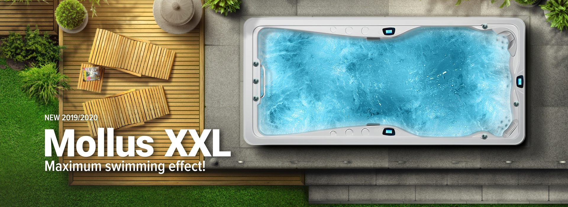 Whirlpool hot tubs Spa Studio - New swim spa 2019/2020: Mollus XXL