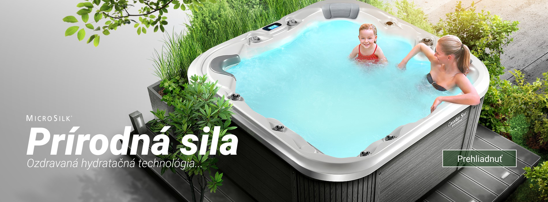 Microsilk prírodná sila - Hydrotherapy by Canadian Spa International®