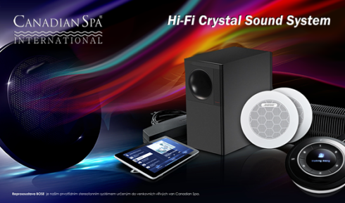 Zvukové systémy a možnosti ozvučení vířivek od Canadian Spa International®